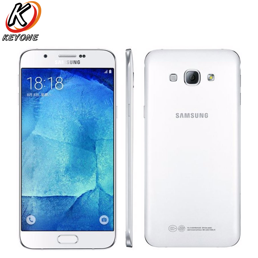 New Original Samsung Galaxy A8 A8000 Mobile Phone 5 7 Snapdragon 615 Octa Core 2GB RAM