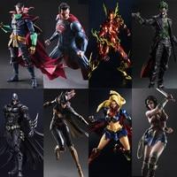 NEW 26cm Play Arts Kai Dawn of Justice Superman Doctor Strange Arkham Knight Robin Wonder woman PA Kai Model action Figure Toys