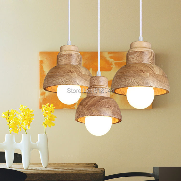 American Style Country Brief Personality Wood Pendant Lights, Creative Hanging Lamps, Bar and Living Room Dining Room Light chinese style iron rectangula pendant lamps creative personality study the living dining room bar lights za628 zl33 ym