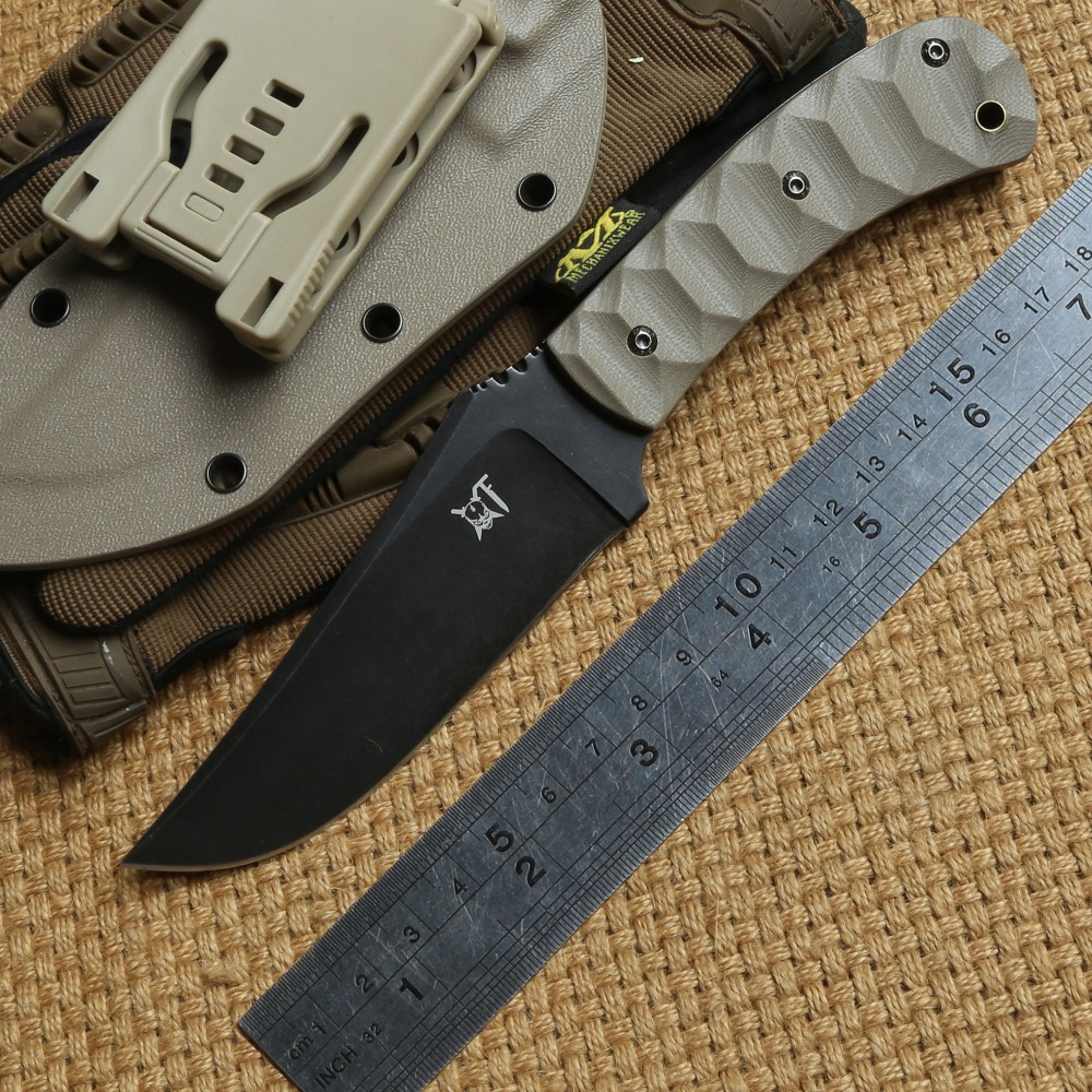 DICORIA DC53 blade G10 handle Tactical knife fixed blade KYDEX Sheath camping hunting outdoor survival knives EDC tools nighthawk slay vg 10 blade g10 handle fixed blade tactical hunting knife kydex sheath camping survival outdoors edc knives tools