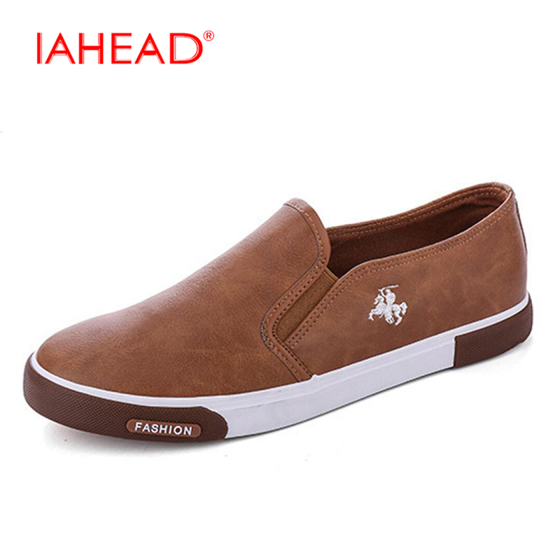 Mens Shoes Breathable Casual Shoes PU Leather Casual Shoes Slip On men Fashion Flats Loafer Normal Size MC010 2017 new spring imported leather men s shoes white eather shoes breathable sneaker fashion men casual shoes