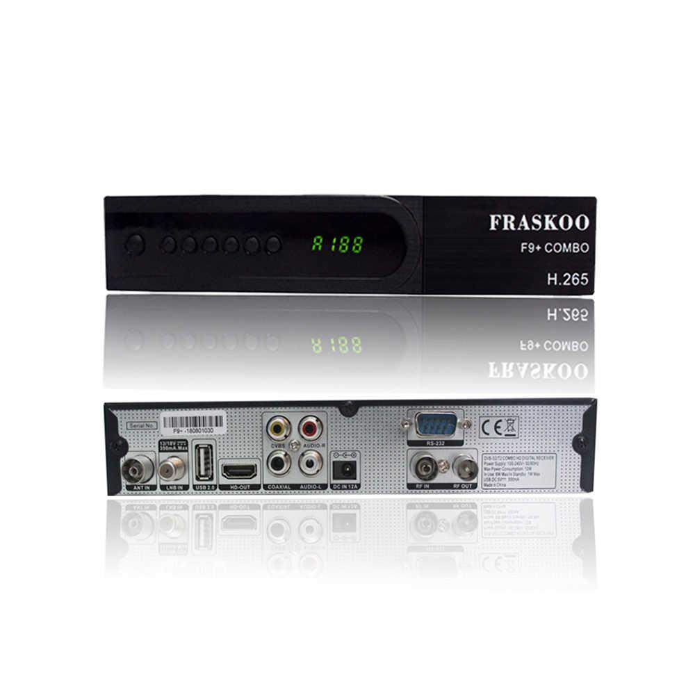 Satxtrem F9 Plus DVB S2 DVB T2 موالف H.265 جهاز استقبال قمر صناعي أرضي رقمي مع Cline لمدة 1 سنة إسبانيا البرتغال