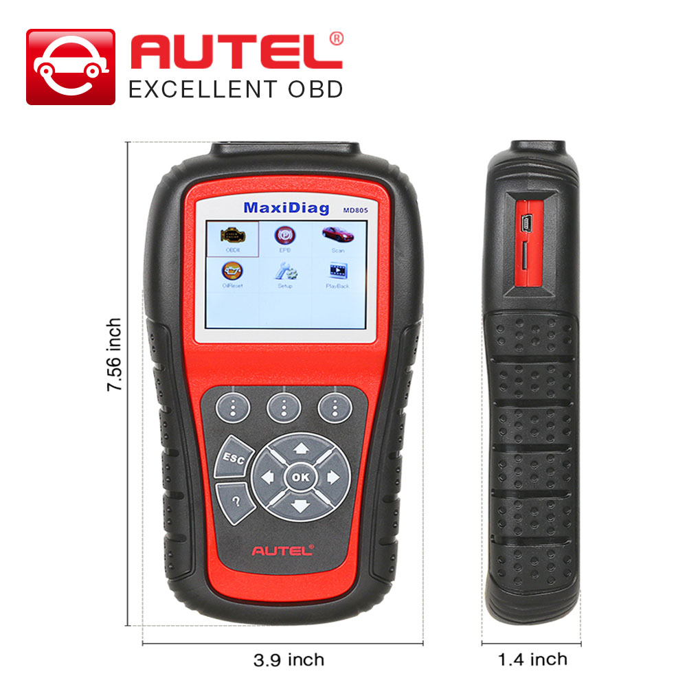 New arrival autel maxidiag md805 full system diagnostic tool support ols epb can