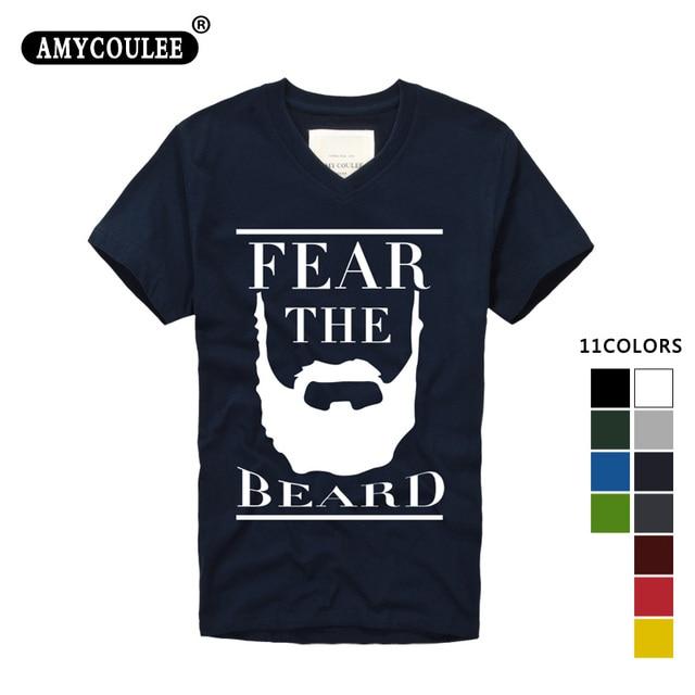 240a8565a3c Fashion Design T shirt print James Harden Fear the Beard Mens   Womens V  neck T Shirt Custom T Shirt camisetas hombre tshirt