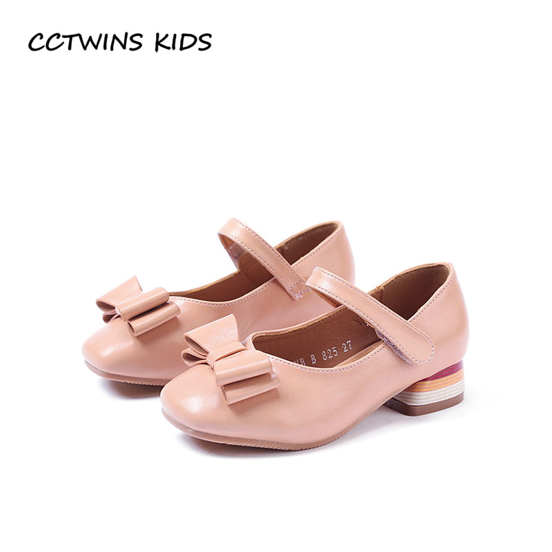 CCTWINS KIDS 2018 Autumn Children Fashion Princess Heel Baby Girl Butterfly Party Shoe Toddler Pu Leather Mary Jane GH1727 wendywu 2017 spring toddler fashion pu leather mary jane baby girl rhinestone princess ballet children heeled shoe black