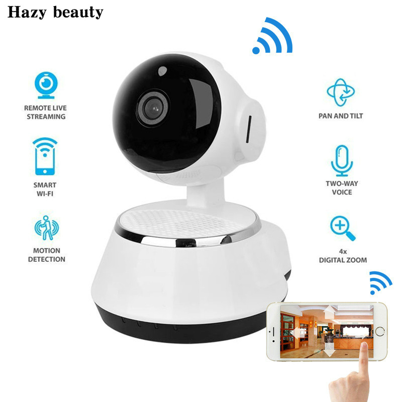 New ! Pan Tilt Wireless IP Camera WIFI 720P CCTV Home Security Cam Micro SD Slot Support Microphone & P2P Free APP ABS Plastic wireless ip camera hd 720p megapixel wifi camera home security cameras support tf sd card indoor two audio pan tilt p2p ip cam