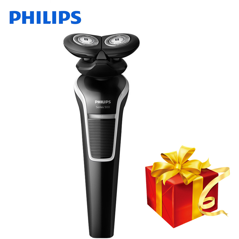 Philips Electric Shaver S526 Rotary Rechargeable Double Blade Rotate Electric Shaver Face Beard Electric Razor For Men Wet&Dry kemei men s electric shaver cordless rechargeable reciprocating razor wet and dry use beard trimmer men s face care tool km 2016
