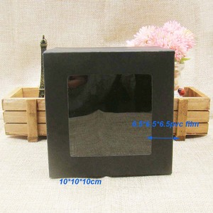 Image 5 - 10*10*10m 3color white/black/kraft stock paper box with clear pvc window .favors display /gifts&crafts paper window packing box
