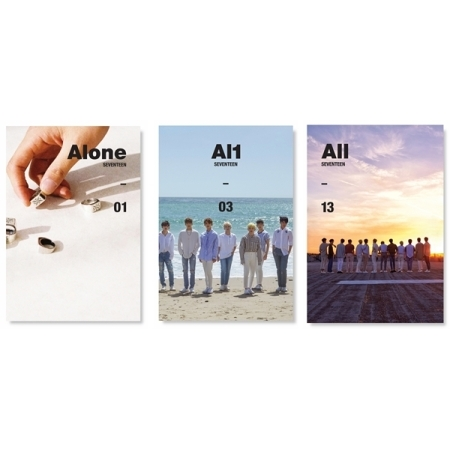 SEVENTEEN 4TH MINI ALBUM - AL1  (3 versions set) Release Date 2017.05.23 bigbang seungri 2nd mini album let s talk about love random cover booklet release date 2013 08 21 kpop