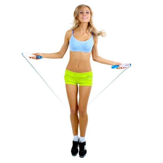 ANCHEER Аэробные Упражнения Спортивной Фитнес-ЖК-Цифровой Подсчет Калорий Пропуск Скакалка Синий