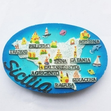 Italy map tours commemorative fridge stickers