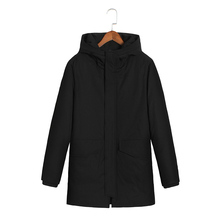 2017 New plus size 8XL 7XL 6XL Mens Winter Parkas Mid -Long Smooth Metal Zipper Stand Collar Simple Handsome Winter Jacket Men