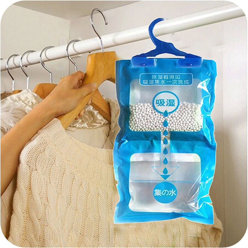 2019 New Hanging Closet Wardrobe Bathroom Anti-mold Moisture Absorbent Dehumidification Desiccant Bag 500ML