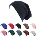 Stylish Men Women plain jersey Slouch Beanie Basic Skull Cap large size