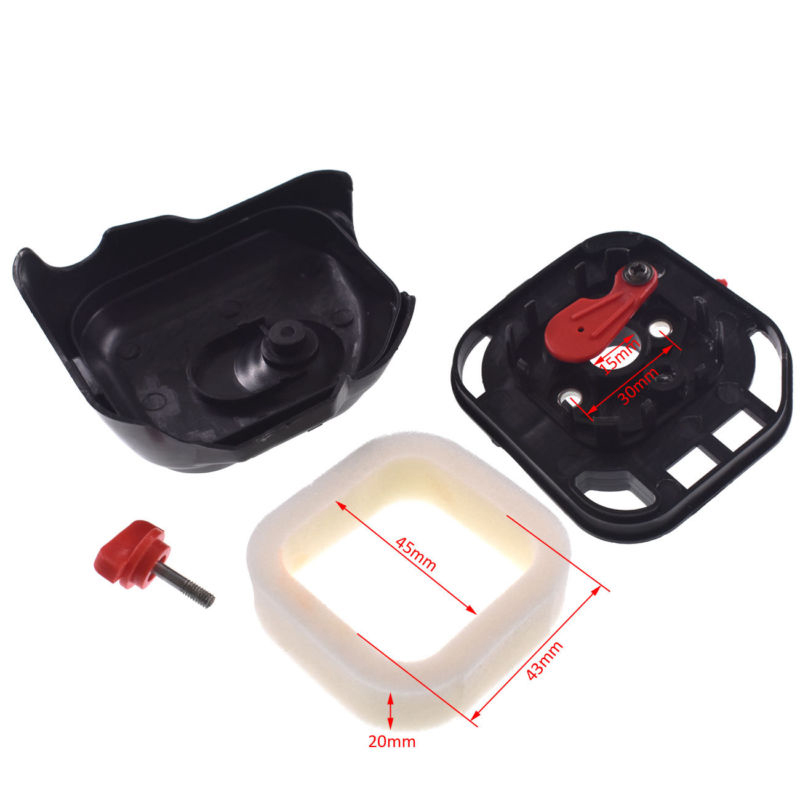 Air Filter Assembly With/Cover For Zenoah G26LS Strimmer Brushcutter 25.4CC