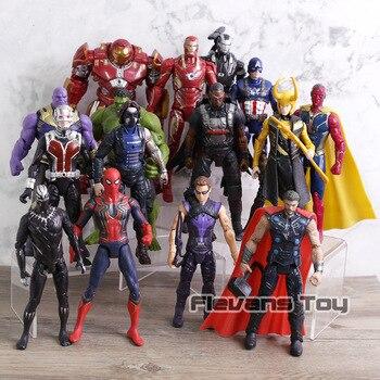 Marvel Мстители 3 Бесконечность войны фильм Аниме Супер Герои Капитан Америка Ironman человек паук Халк Тор супергерой фигурку игрушки >> FunnyMoster Store