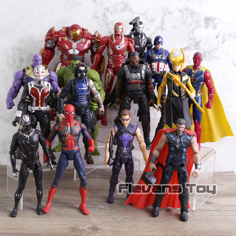 Marvel Avengers 3 infinity war Movie Anime Super Heros Captain America Ironman Spiderman hulk thor Superhero Action Figure Toy цены
