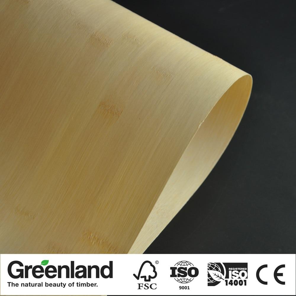 Natural Horizontal Bamboo Veneer For Cabinet DIY Furniture Table Natural Material Chair Cabinet Doors Outer Skin