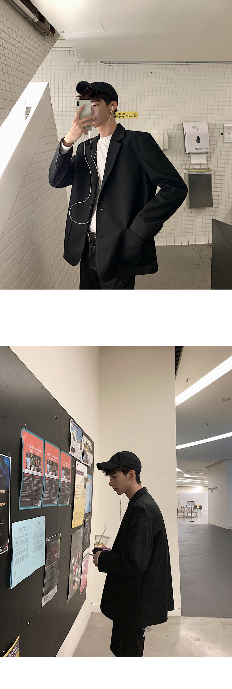 Весенний мужской костюм, корейский Повседневный стимпанк homme, мужской пиджак, хлопковый Классический английский стиль