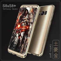 Fashion Man Luxury Gold Slim Ultra Thin Metal Bumper For Samsung Galaxy S8 S8 Plus Shell