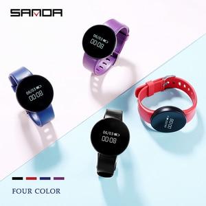 Image 5 - SANDA Reloj de pulsera SD3 para hombre y mujer, reloj de pulsera deportivo con pantalla táctil OLED, contador de pasos, recordatorio inteligente