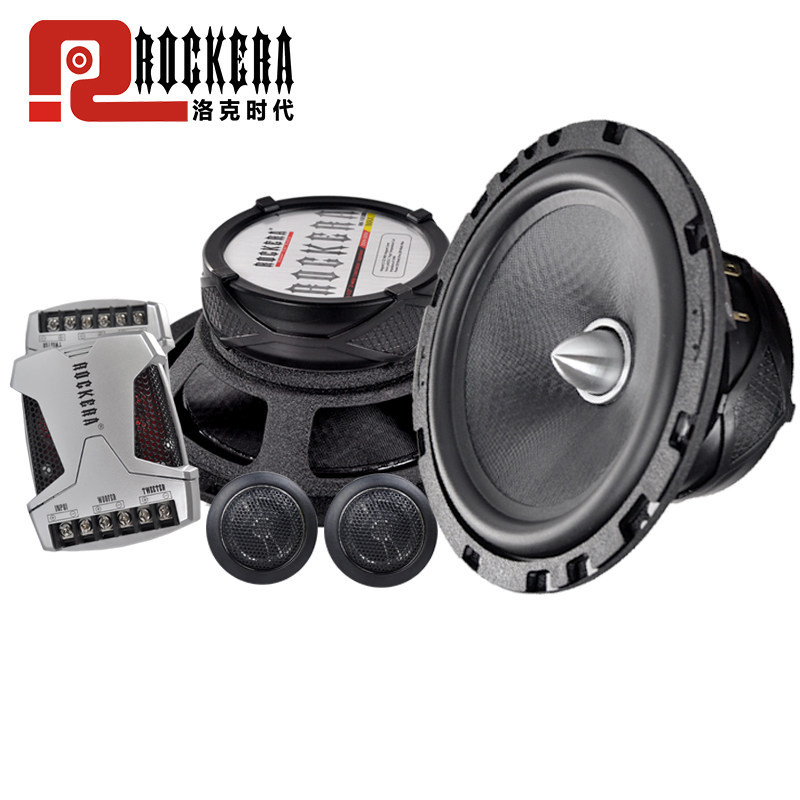 6.5inch Car Audio Speaker Component 4ohm 200W with Tweeter Cross Over 2 Way HIFI Car Speaker Set quantum alpha series 6 5 inch component speaker