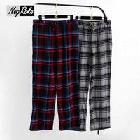 Hot Sale Spring 100 Cotton Male Sleep Bottoms Comfort Casual Mens Sleepwear Trousers Plaid Pijamas Mens