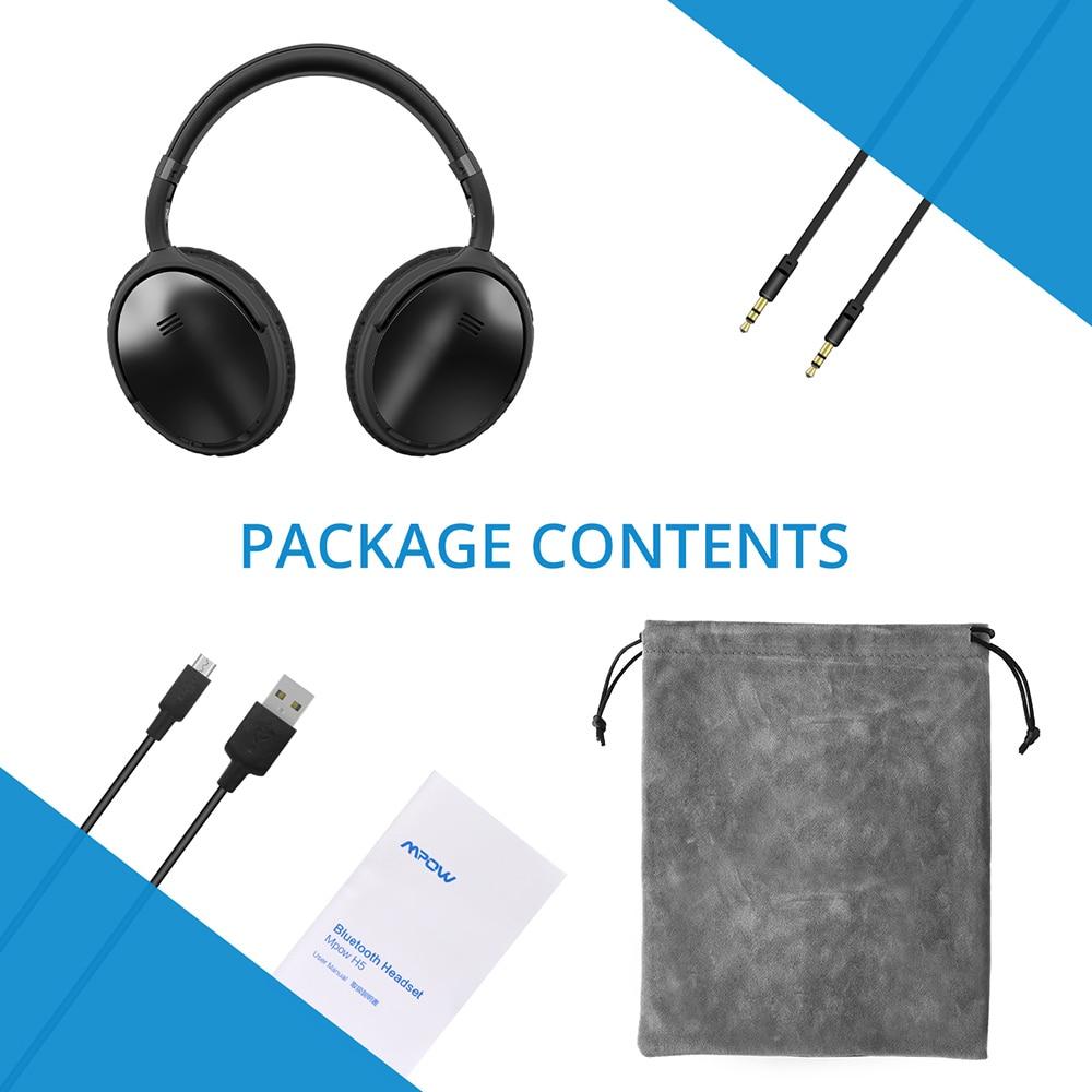 Mpow H5/H5 2nd Gen auriculares Bluetooth de oído ANC HiFi estéreo de auriculares con micrófono para iPhone x/8/7 y teléfono Android - 6