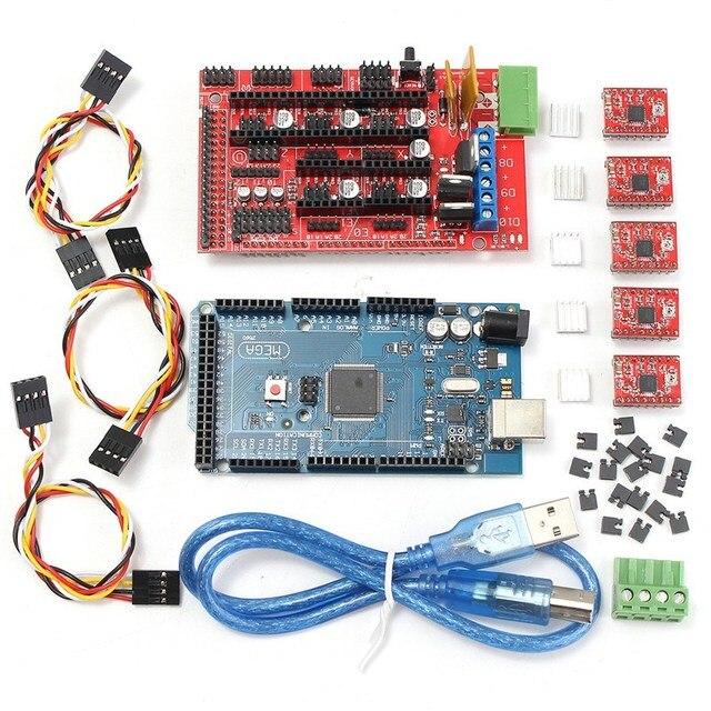 3d printer controller ramps 1 4 board mega 2560 r3 5pcs a4988 ramps 1.4 kit 3d printer controller ramps 1 4 board mega 2560 r3 5pcs a4988 stepstick stepper motor