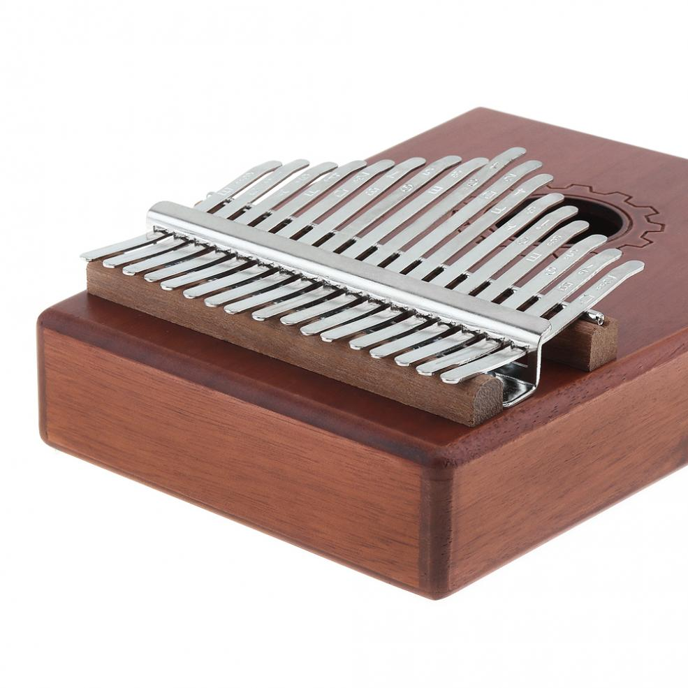 Купить с кэшбэком 17 Key Kalimba Single Board Mahogany Thumb Piano Sets Mbira Mini Keyboard Instrument with Bag and Complete Accessories