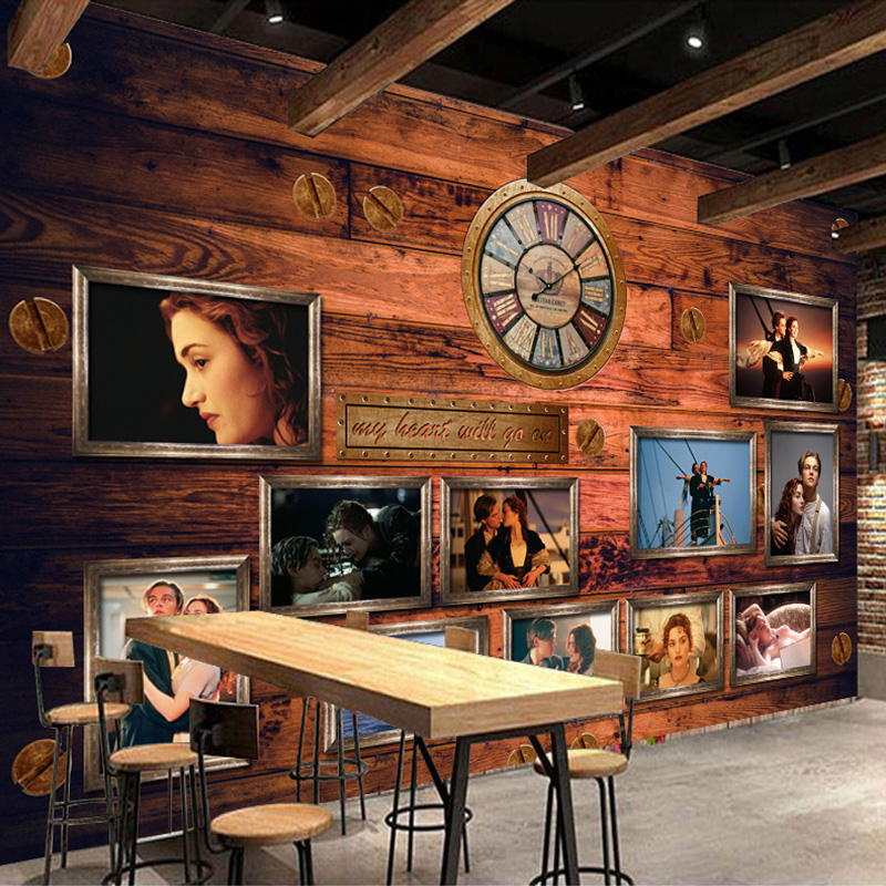 Custom 3D Photo Wallpaper European And American Classic Movie Poster Theme Restaurant Cafe Bar Background Wall Mural Wallpaper metal mechanical pencil gift automatic pencil mechanical pencil metal birthday fathers day girlfriend gift