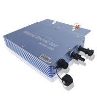 Waterproof IP65 300W Grid Tie Micro Inverter Inversor 22 50VDC, Output 120V/230Vac For On Grid Solar Power System Home