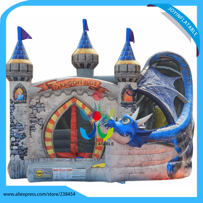 6X5M Outdoor Inflatable Dragon Age Commercial Bouncy Castle slide for kids commercial sea inflatable blue water slide with pool and arch for kids