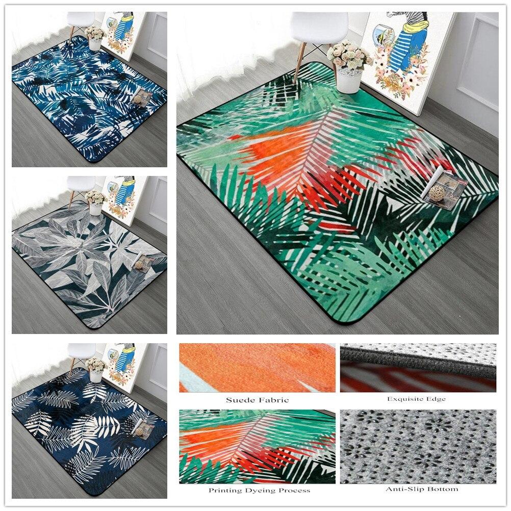 Pastorale feuilles série grands tapis pour salon chaud doux tapis pour chambre étude/Restaurant zone tapis Table basse tapis de sol