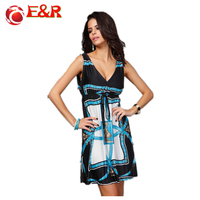 2014 New Retail Spring And Summer Fashion Beach Dress Leopard Dress Bohemian Mopping Large Size Women