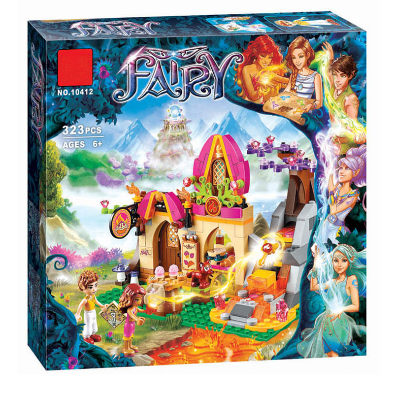 10412 Fairy Elves Azari Magical Bakery Building Bricks Blocks Set Kids Toys Compatible Friends 41074 for girl hot nuevo 10415 elfos azari aira naida emily jones cielo fortaleza castillo building block toys
