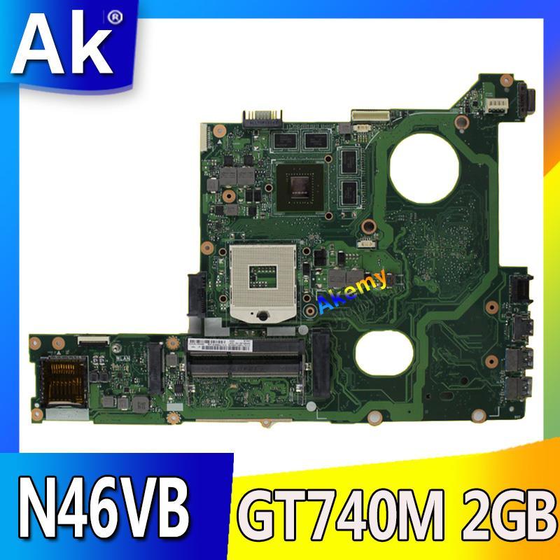 Akemy N46VM GT630M Onboard 2 gb Motherboard Para ASUS N46V N46VM N46VZ N46VB N46VJ Laptop Mainboard 100% Testado Rev 2.1