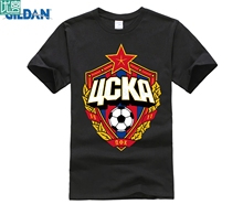 designer t shirt The central cska Moscow Russia LOGO T-shirt Top Lycra Cotton Men T shirt New Design High Quality
