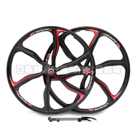 alloy 26 inch mountain road bike disc brakes stuck Integrated alloy wheel bicycle Cycling Wheels Bicycle Parts
