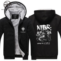 Gzpw cosplay NieR:Automata 2018 New winter Male and female leisure jacket Large size keep warm Hoodies size M-5XL