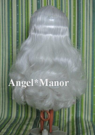 Головы с волосами для блит, Не кукла, Белый длинные волосы, Для подарка девушке, Tp003