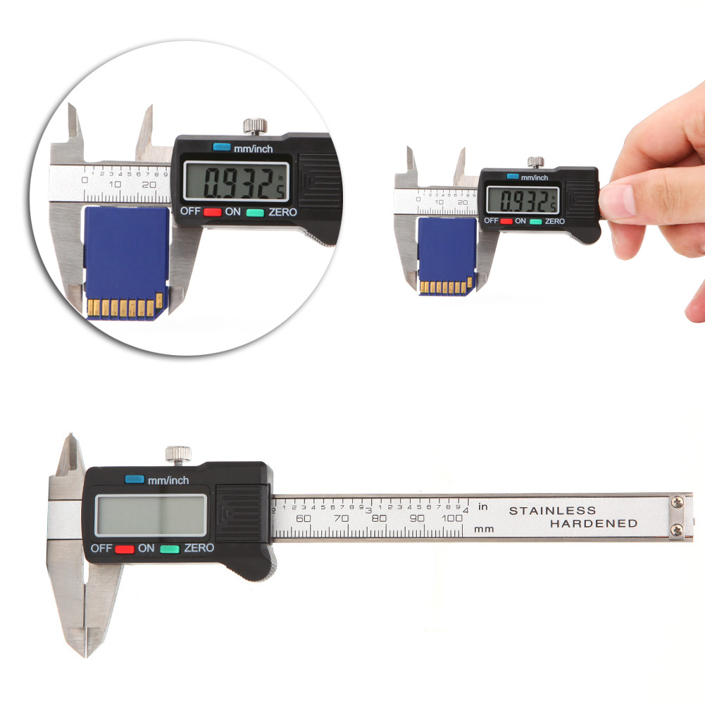 OOTDTY 2018  100mm LCD Electronic Digital Gauge Stainless Steel Vernier Caliper Micrometer  SEP1_20