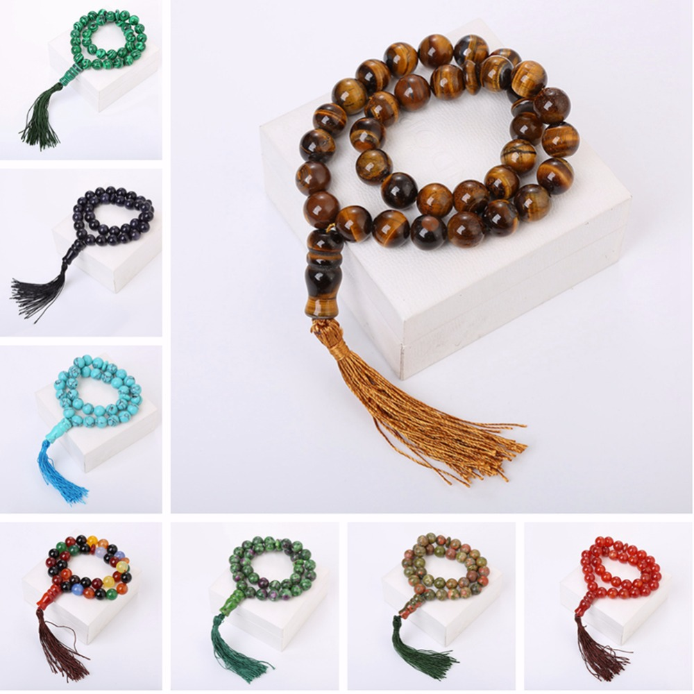 Hot Sale 33 Beads Crystal Rope Chain Charm Muslim Religious Tasbih Prayer Natural Agate Beads Bracelet Woman Men Muslim JewelryHot Sale 33 Beads Crystal Rope Chain Charm Muslim Religious Tasbih Prayer Natural Agate Beads Bracelet Woman Men Muslim Jewelry