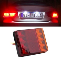 HIGH Quality 2PCS Plastic Waterproof Car Styling Trailer Truck 8LED Taillight Brake Stop Turn Signal Indicator