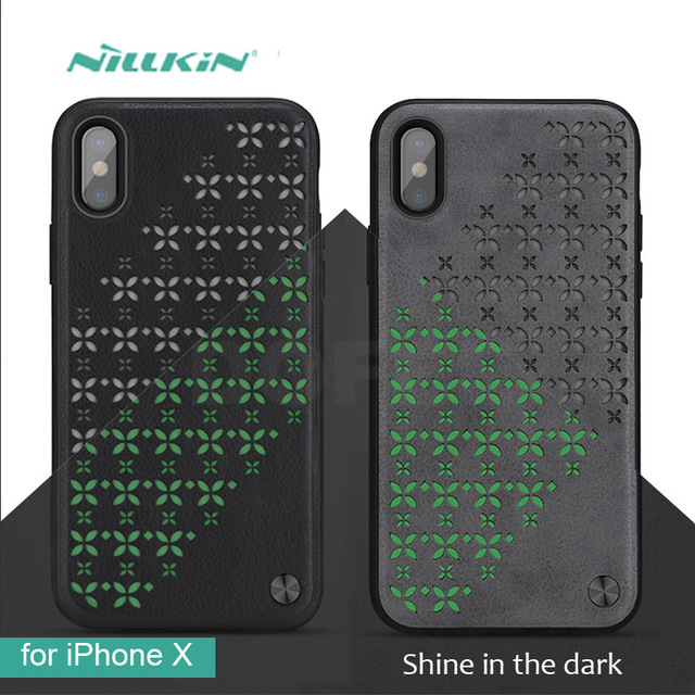 sneakers for cheap d36dc 15145 US $14.11 |for iPhone X Case Nillkin Star Luminous Leather Back Cover  Luxury Case 5.8 inch Phone Case for iPhone X Mobile Phone Cover-in  Half-wrapped ...