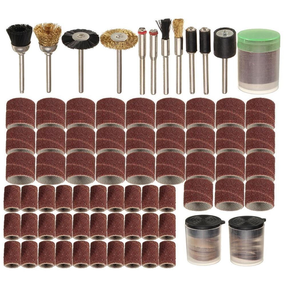 "150Pcs/Set 1/8"" Shank Sanding Polish Accessory Sand Drum+Cutting Wheel+Sanding Disc+Mandrel+Polish Brush Rotary Power Tool"