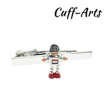Tie Clip For Men Robot  Novelty Male Business Gift for Mens Jewelry by Cuffarts T10032