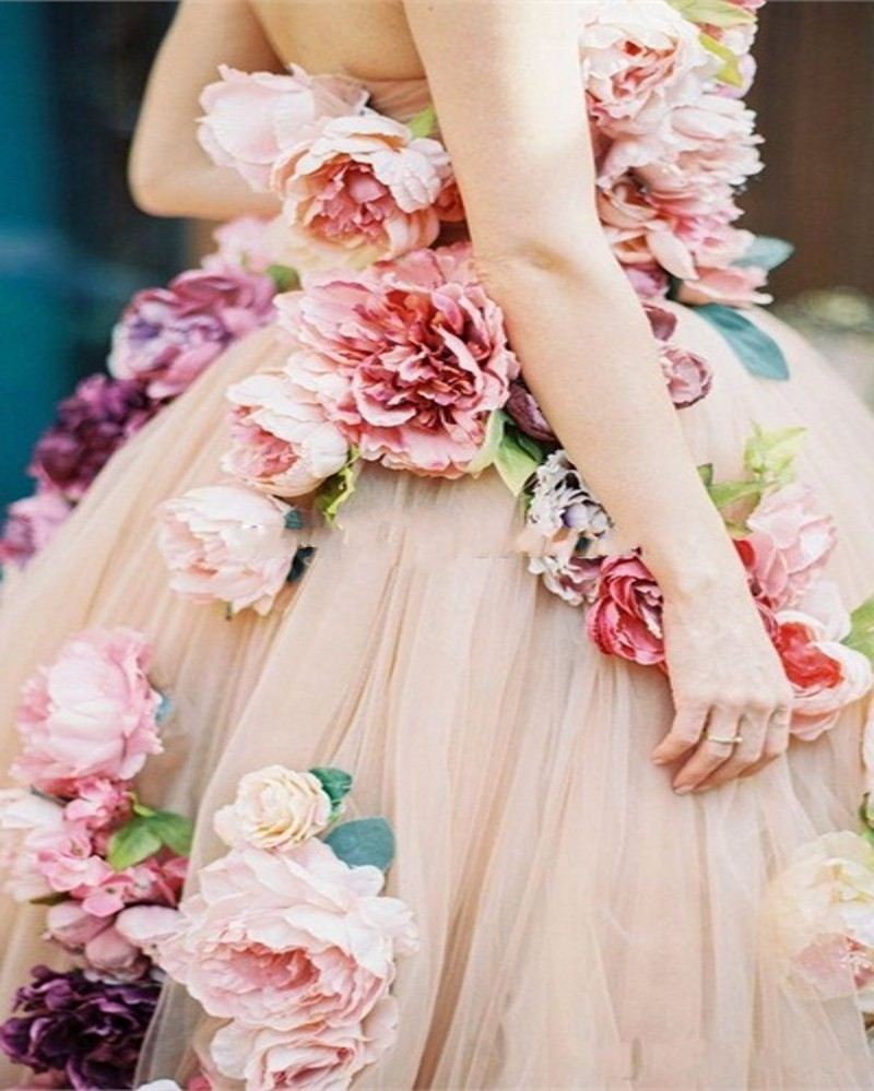vintage-Pink-Flowers-Wedding-Dress-2016-Sexy-One-shoulde-Tulle-Custom-Made-Ball-Gown-Bridal-Dresses (3)