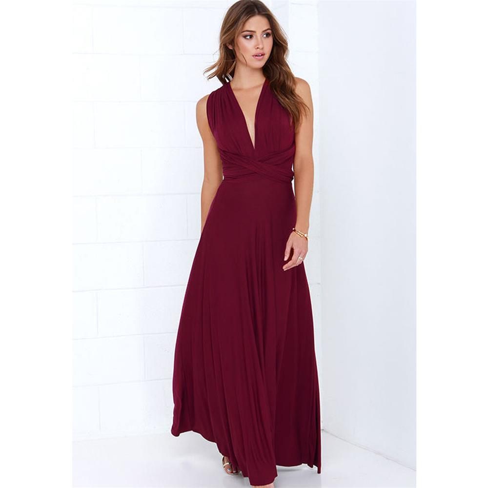 Sexy Women Multiway Wrap Convertible Boho Maxi Club Red Dress Bandage Long Dress Party Bridesmaids Infinity Robe Longue Femme 3