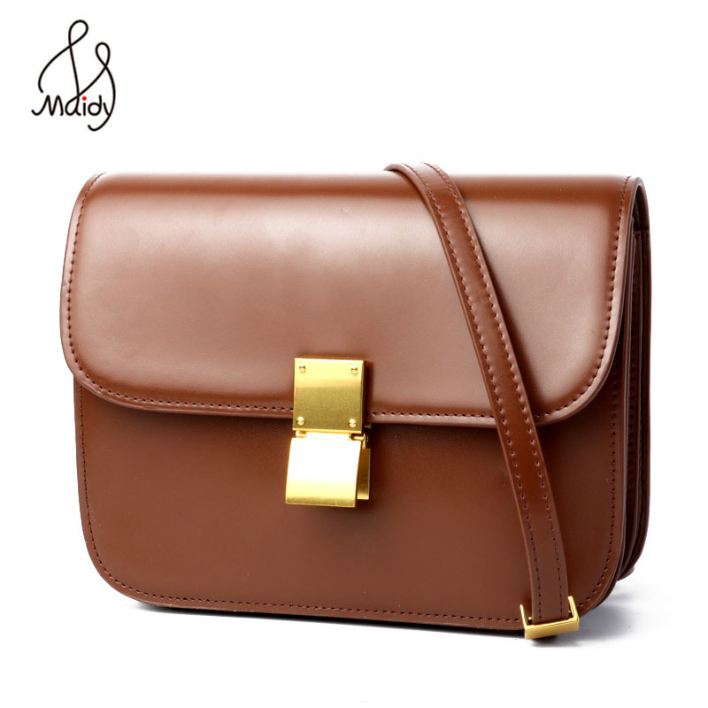 Fashion Small Square Flap Bag First Layer Cowhide Leather Women Ladies Messenger Bags Shoulder Hasp Lock Handbags Satchel Maidy zency genuine leather small women shoulder tassel bags tote handbags first layer cow leather ladies messenger bag satchel